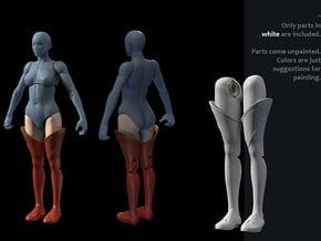 FB01-Legs-05  7inch in White Processed Versatile Plastic