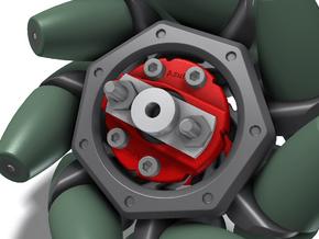 Mecanum Wheel Matrix Adapter in White Natural Versatile Plastic