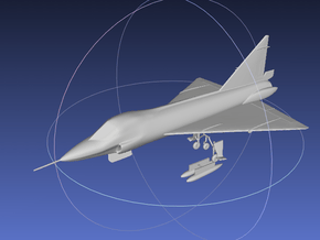 1/144 TF-102 Delta Dagger in Smooth Fine Detail Plastic