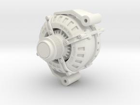 3D Printed Alternator - Large in White Natural Versatile Plastic