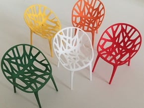 1:12 Chair Garden in White Processed Versatile Plastic