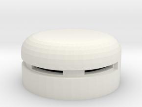 MG Pillbox 5 in White Natural Versatile Plastic