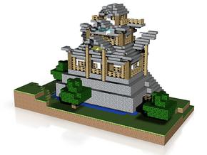 Tuuvas Japanese Castle Left Side in White Natural Versatile Plastic