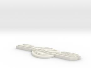 240Z Emblem140mm in White Natural Versatile Plastic