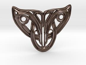 Art Deco Cat Pendant  in Polished Bronze Steel