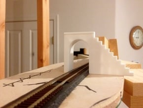 N-Scale Tehachapi Tunnel #15 East in White Natural Versatile Plastic
