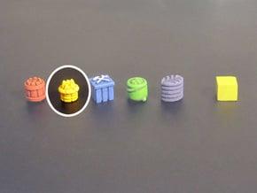 Basket Tokens (13 pcs) in Yellow Processed Versatile Plastic