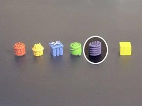 Leave stack Tokens (13 pcs) in Purple Processed Versatile Plastic