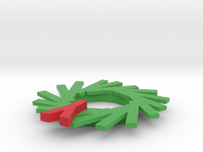 Wreath Ornament in Full Color Sandstone