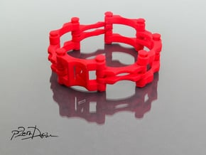 Chain Link  Bracelet / Bike Chain Bracelet in White Natural Versatile Plastic