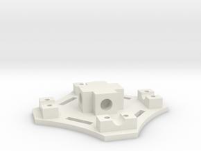 Center Bottom Plate in White Natural Versatile Plastic