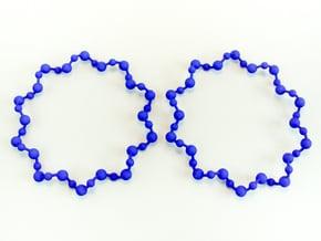 Molecule Big Hoop Earrings 60mm in Blue Processed Versatile Plastic
