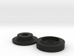 Covertec Knob in Black Natural Versatile Plastic