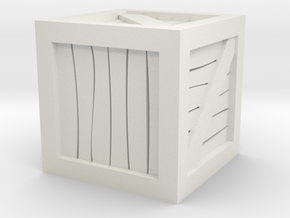 Crate 28mm Miniature Scale in White Natural Versatile Plastic