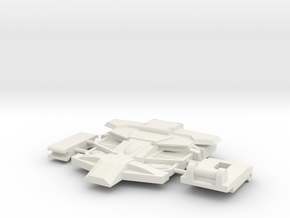 Flame-o Chest in White Natural Versatile Plastic