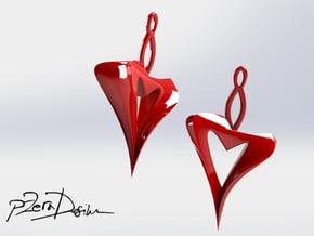 Naked Heart Earrings  in White Natural Versatile Plastic