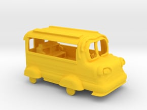 Micro 3DP Bus Toy with Working Tires in Yellow Processed Versatile Plastic