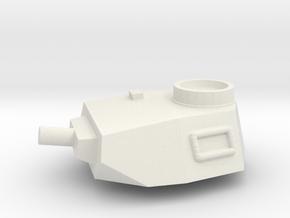 Turret Europe #2, Panzer IV Short Barrel (n-scale) in White Natural Versatile Plastic