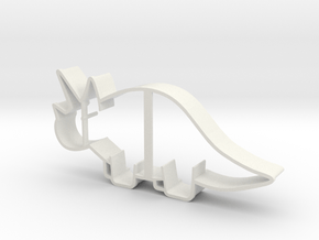 Triceratops Cookie Cutter in White Natural Versatile Plastic