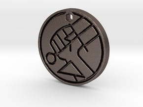Hellboy BPRD Logo Necklace Replica in Polished Bronzed Silver Steel