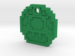 Mario Mushroom 1up Necklace in Green Processed Versatile Plastic