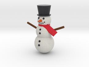 Snowman in Full Color Sandstone