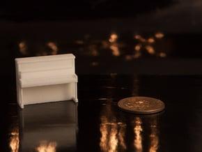 1:48 Upright Piano in White Natural Versatile Plastic