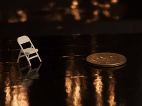 1:48 Metal Folding Chair in White Natural Versatile Plastic
