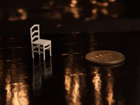 1:48 Ladderback Campagna Chair in White Natural Versatile Plastic