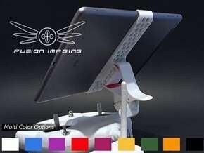 iPad Air Remote Mount for DJI Phantom in White Natural Versatile Plastic
