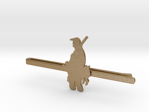 Duck Hunter Tie Clip  in Polished Gold Steel