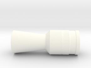 Flash Hider Han Hoth in White Processed Versatile Plastic