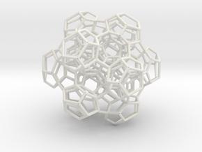 120 Cell Fragment 1 in White Natural Versatile Plastic