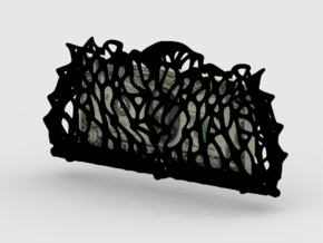 Voronoi Clusters Carry Case in Black Natural Versatile Plastic