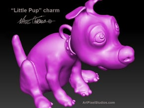 PupCharm in Smooth Fine Detail Plastic