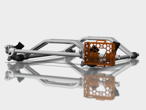 9mm Skid Frame compatible with GoPro Hero 3  in Orange Processed Versatile Plastic