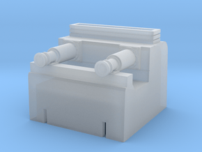 2mm:ft scale hydraulic buffer stop in Smooth Fine Detail Plastic