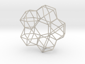 Vector Equilibrium 5 Symmetry 20cm in Natural Sandstone