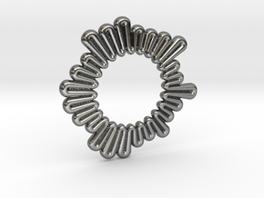 Burst pendant in Fine Detail Polished Silver