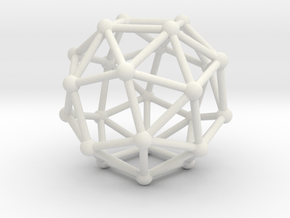Snub Cube (left-handed) in White Natural Versatile Plastic