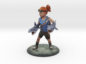 Sharks for Arms Hero Girl in Full Color Sandstone