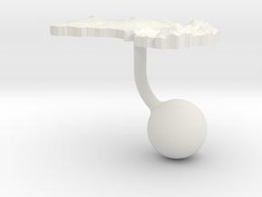 Australia Terrain Cufflink - Ball in White Natural Versatile Plastic