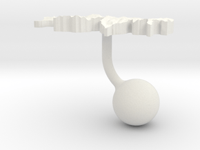 Switzerland Terrain Cufflink - Ball in White Natural Versatile Plastic