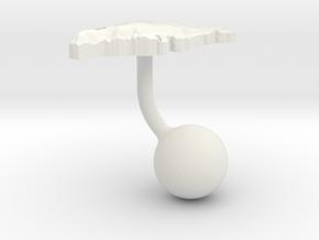 Greenland Terrain Cufflink - Ball in White Natural Versatile Plastic