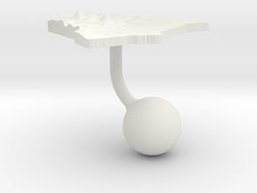 Kenya Terrain Cufflink - Ball in White Natural Versatile Plastic