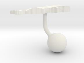 Lebanon Terrain Cufflink - Ball in White Natural Versatile Plastic