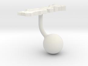 Portugal Terrain Cufflink - Ball in White Natural Versatile Plastic