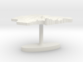 Nigeria Terrain Cufflink - Flat in White Natural Versatile Plastic
