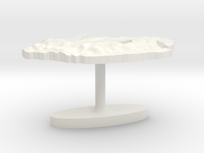 South Africa Terrain Cufflink - Flat in White Natural Versatile Plastic