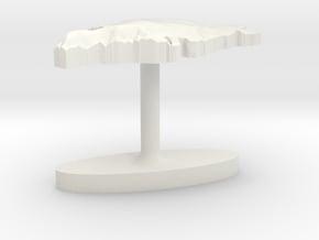 Greenland Terrain Cufflink - Flat in White Natural Versatile Plastic